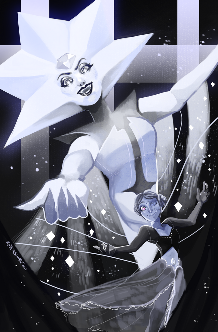 Tumblr  | Patreon  | Youtube Ahh finally got around to painting these two! White diamond's makeup? wow she did that Took about 3 hours in Photoshop CC ALSO there's a s...