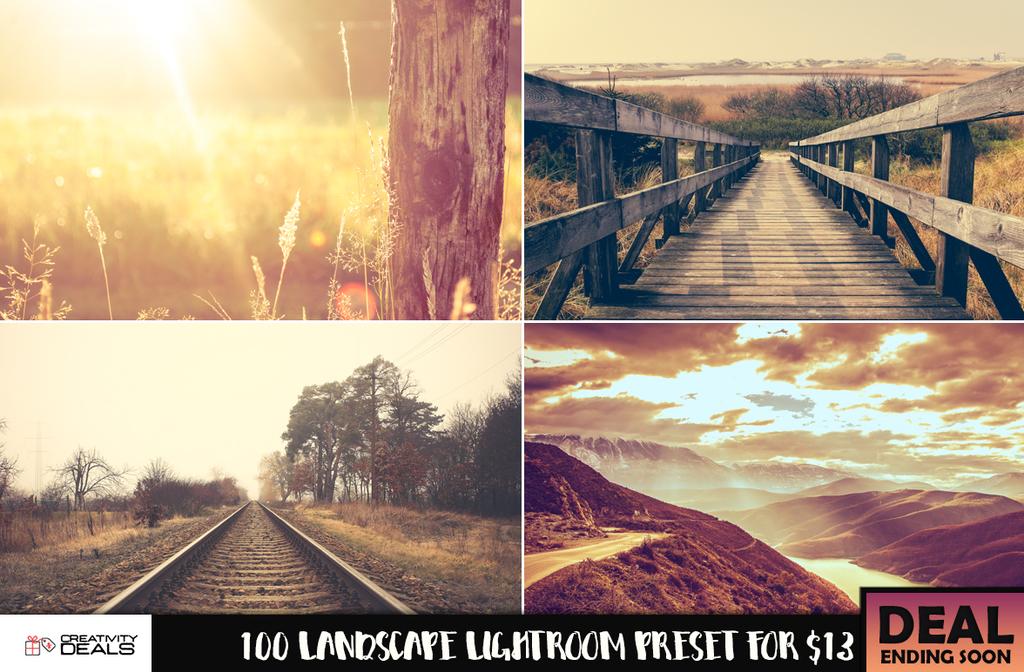 100 Landscape Lightroom Preset for $13 by creativitydeals