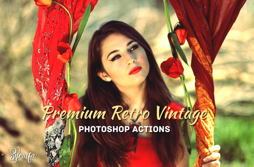 Free Download: 30 Retro Vintage Photoshop Actions by creativitydeals