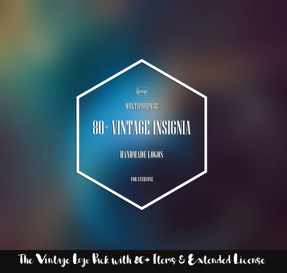 The Vintage Logo Pack with 84 Items and Extended by creativitydeals