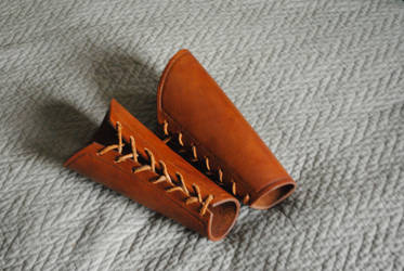 Leather Vambraces by WarClad