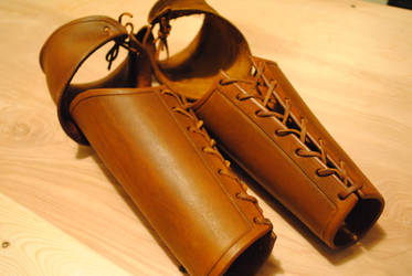 Leather arm armor by WarClad