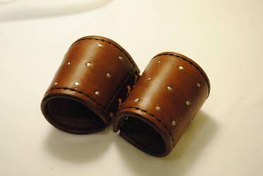 Studded Leather Bracers by WarClad