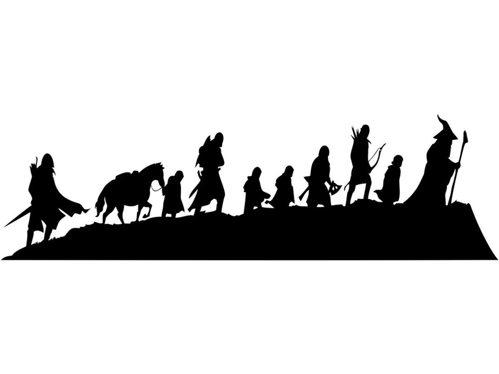 Silhouettes Lord Of The Rings
