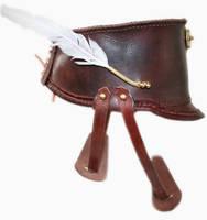 Steampunk leather Shako hat 2 by AmbassadorMann
