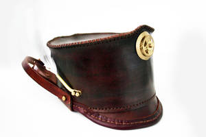 Steampunk leather Shako hat 9 by AmbassadorMann