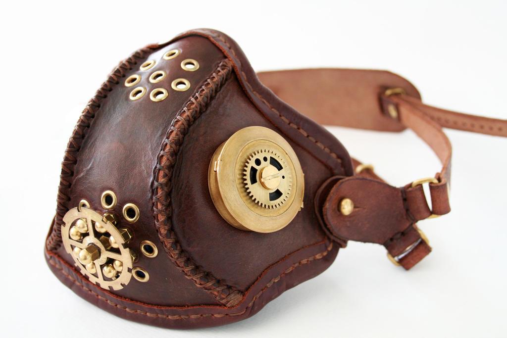 Steampunk leather mask 1 by AmbassadorMann