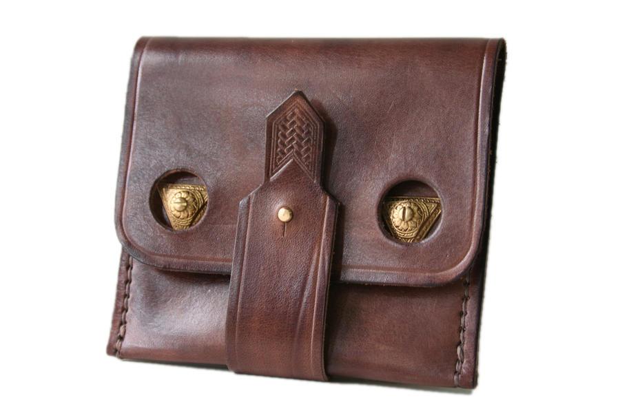 Steampunk Leather Wallet 3 by AmbassadorMann