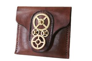 Steampunk Leather Wallet 4 by AmbassadorMann