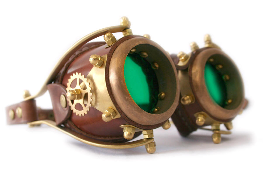 how to draw steampunk goggles