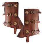 Steampunk leather gaiters 1