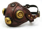 Steampunk Leather Mask made of distressed leather by AmbassadorMann