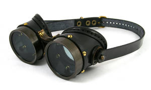 Steampunk goggles - blackened brass