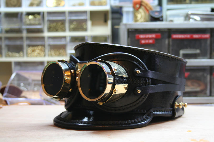 Goggles on shako hat by AmbassadorMann