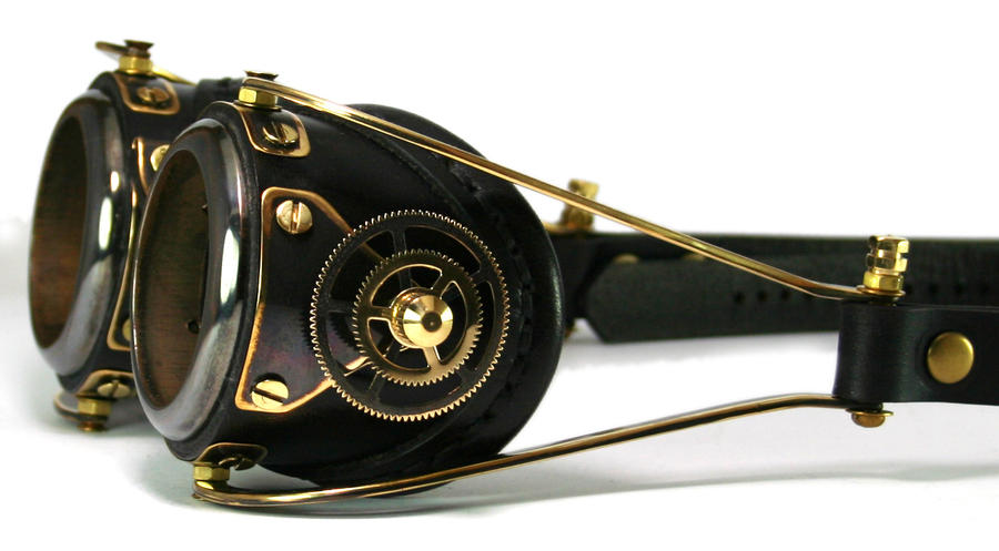 Blackened brass Goggles by AmbassadorMann