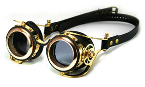 Steampunk goggles (polished brass)