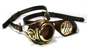 Brass monogoggle/eyepatch set 2
