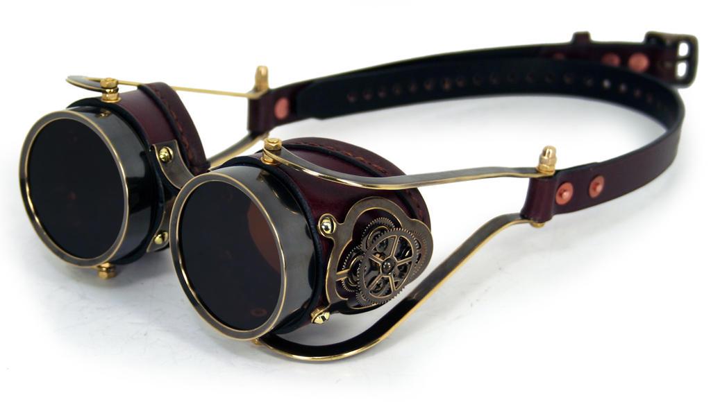 Clockwork Goggles Brown Leather by AmbassadorMann