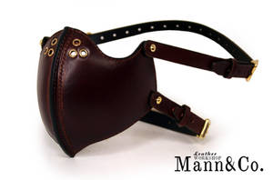 Custom Mask in brown leather