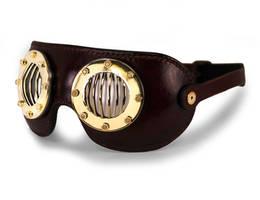 Aviator style goggles - flat frames