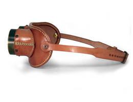 Aviator goggles - tan leather tarnished brass 3