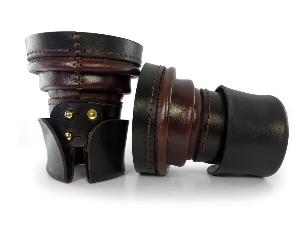 Steampunk Leather Bracers by AmbassadorMann