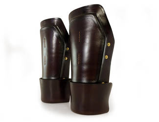 Steampunk Leather Bracers 1 by AmbassadorMann