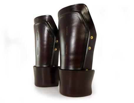 Steampunk Leather Bracers 1