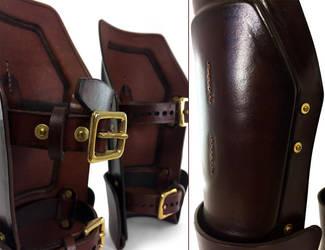 Steampunk Leather Bracers 5 by AmbassadorMann