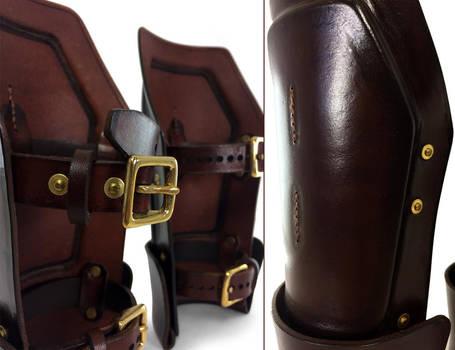 Steampunk Leather Bracers 5