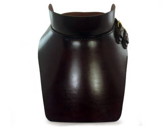 Steampunk Leather Gorget 2 by AmbassadorMann