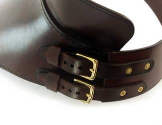 Steampunk Leather Gorget 4 by AmbassadorMann