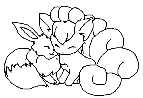Bases favourites by posey 11 on deviantart for Vulpix coloring pages
