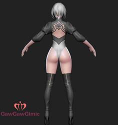 Nier 2B back by GawGawGimic