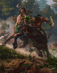 Battle in Ashenvale by kiddo428