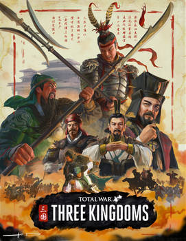 Total War Three Kingdoms box art concept