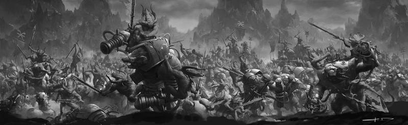 bloodletters and blood crushers(black and white)
