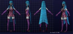 Mememe! 3D modelsheet wireframe