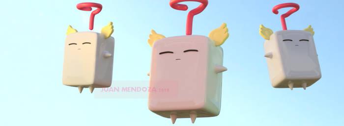 Mokey Mokey 3D Model - Yu-Gi-Oh!