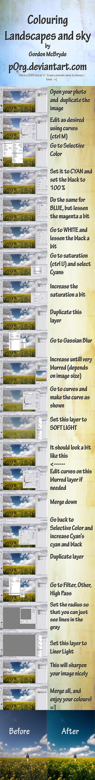 Landscape + Sky Color Tutorial by P0RG