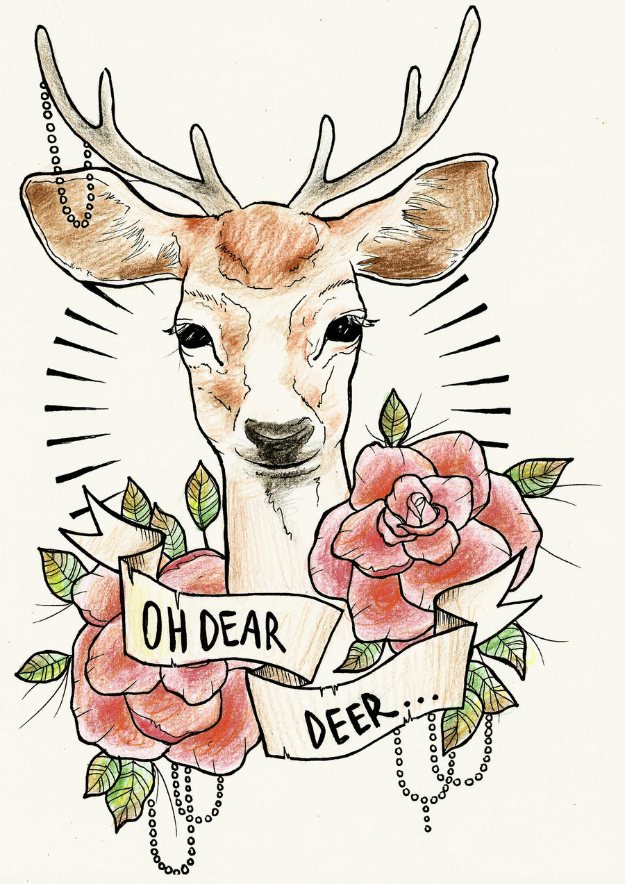 Ideas on pinterest deer tattoo deer and magpie tattoo Oh design