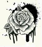 spray paint rose tattoo