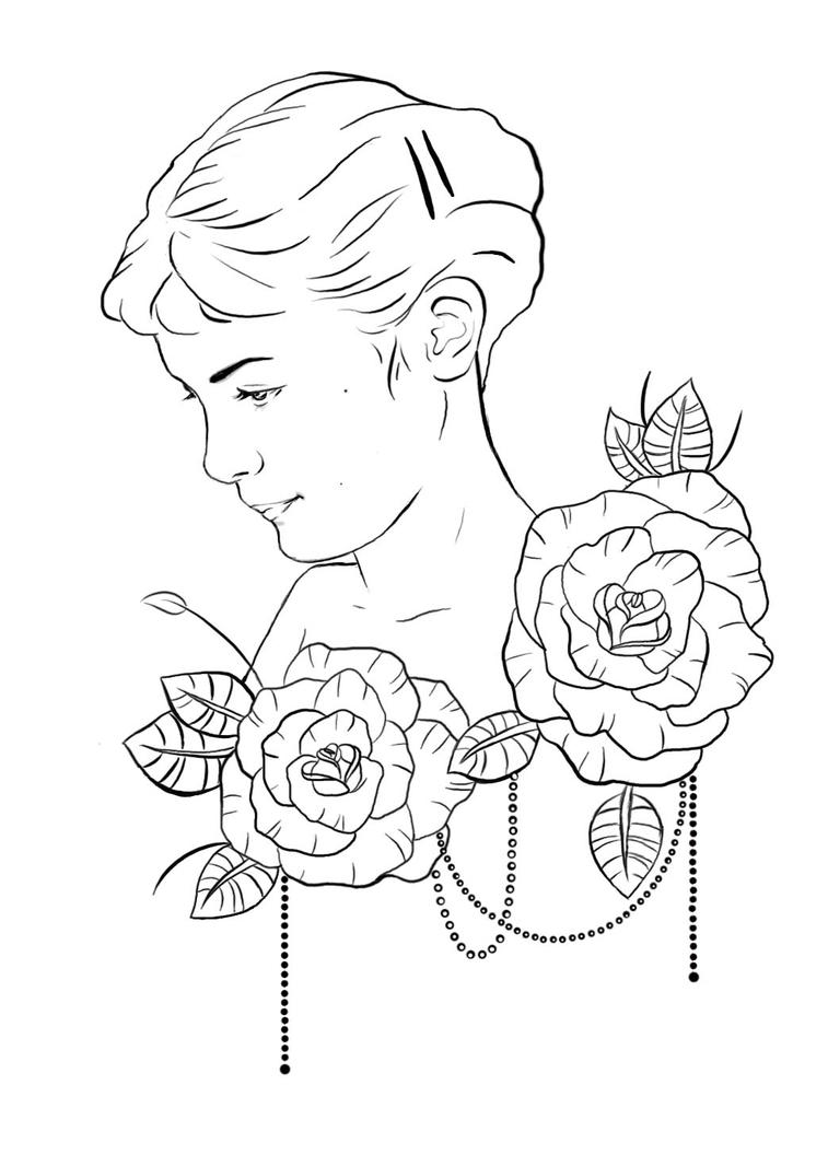 Out Line Art Design : Amelie poulain tattoo design outline by ziuuziuu on deviantart