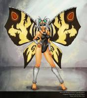 Mina the Mothra Girl by CupcakeAshley