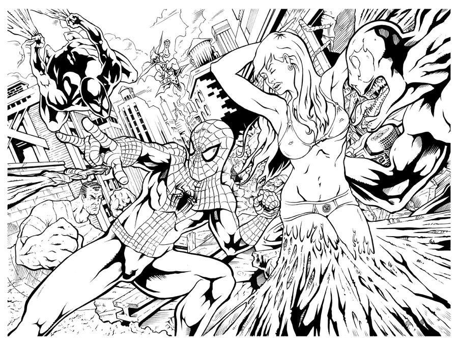 amazing spiderman coloring pages - spiderman and his amazing friends free coloring pages