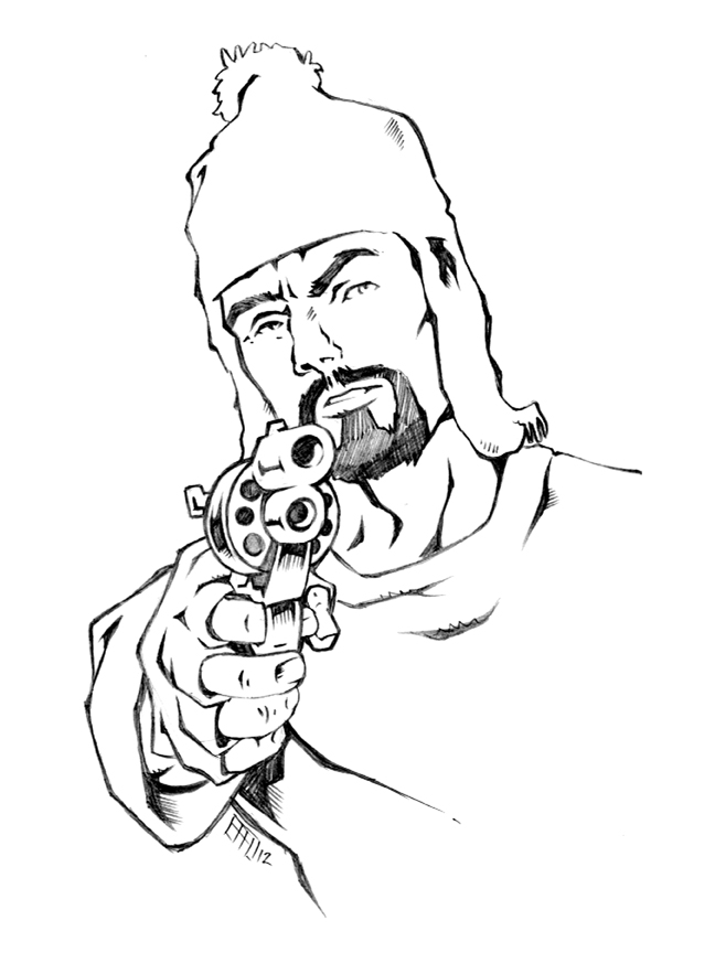 Jayne from Firefly original pencil sketch by bphudson