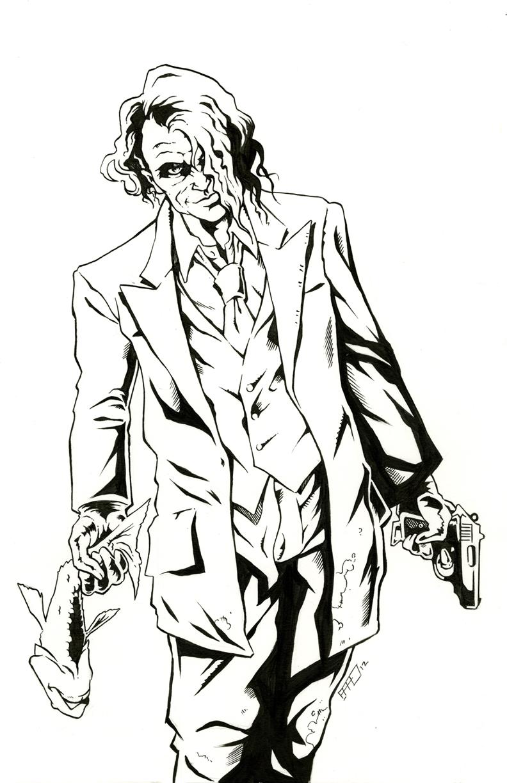 The Joker Line Art : Heath ledger joker by bphudson on deviantart
