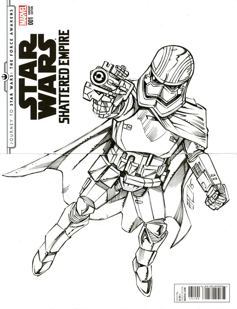 Captain Phasma Sketch Cover by bphudson on DeviantArt