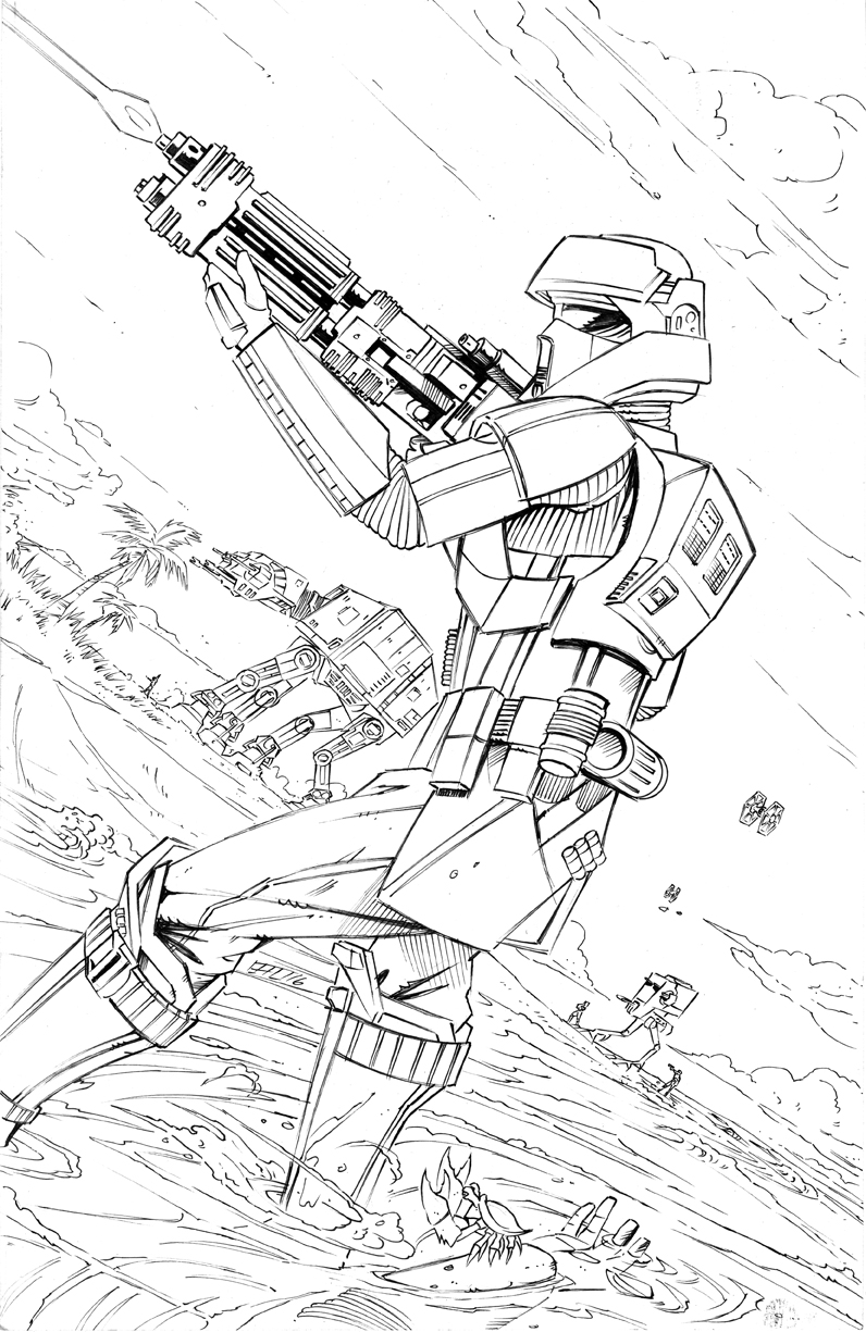 Death Trooper Coloring Page