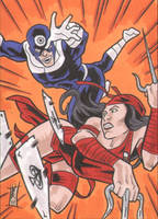 COMM PSC - Elektra + Bullseye by The-Real-NComics